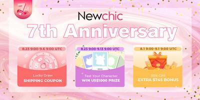 Newchic celebra su séptimo aniversario y lanza la campaña #Newchicpassion. (PRNewsfoto/Newchic Company Limited)