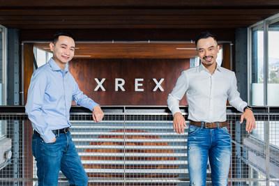 Fundada de manera conjunta por Wayne Huang (derecha) y Winston Hsiao (izquierda), la empresa fintech de criptofiat XREX recaudó con éxito USD17millones en su ronda previa tipoA. (PRNewsfoto/XREX Inc.)
